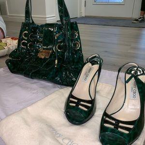 Green heels, Jimmy Choo